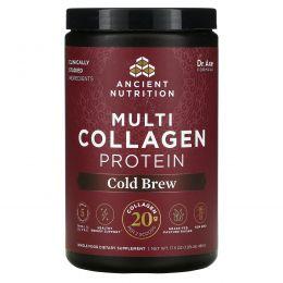 Dr. Axe / Ancient Nutrition, Multi Collagen Protein, Cold Brew Collagen, 17.6 oz (500 g)