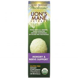 Fungi Perfecti, Host Defense, Lion's Mane Extract, 1 fl oz (30 ml)
