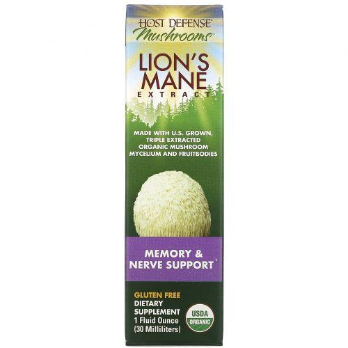 Fungi Perfecti, Host Defense, Lion's Mane Extract, 1 fl oz (30 ml)