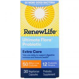 Renew Life, Пробиотик Ultimate Flora, Critical Care, 50 миллиардов, 30 растительных капсул