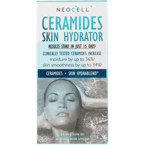 Neocell, Увлажнение кожи с керамидами, 60 капсул