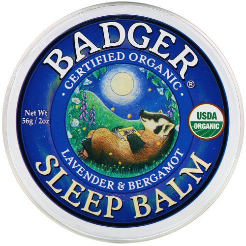 Badger Company, Sleep Balm, Lavender & Bergamot,60 мл (56 г)