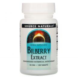 Source Naturals, Экстракт черники, 50 мг, 120 таблеток
