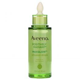 Aveeno, Позитивное сияние, капли для вливания Maxglow, 1,35 ж. унц. (40 мл)