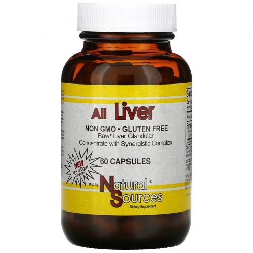 Natural Sources, All Liver, 60 капсул