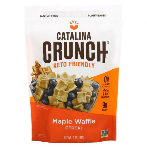 Catalina Crunch, Keto Friendly Cereal, Maple Waffle, 9 oz (255 g)