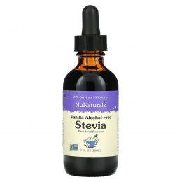 NuNaturals, Ванильный безалкогольный NuStevia, 2 fl oz (59 мл)
