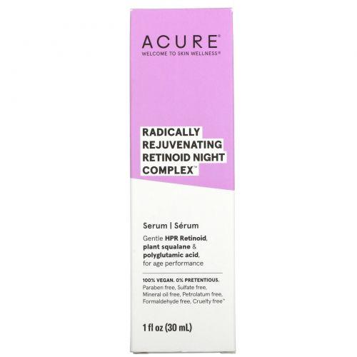 Acure, Radically Rejuvenating Retinoid Night Complex, 1 fl oz (30 ml)