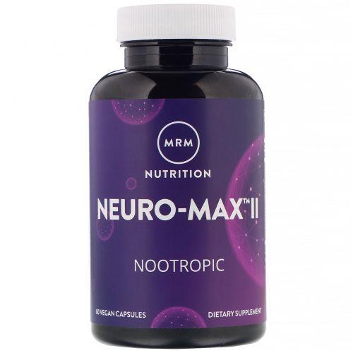 MRM, Neuro-Max II, 60 капсул на растительной основе