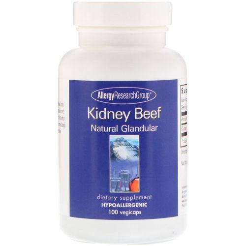 Allergy Research Group, Kidney Beef, Natural Glandular, 100 vegicaps