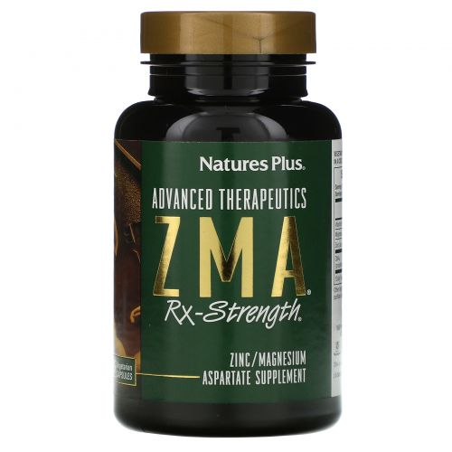 Nature's Plus, Advanced Therapeutics, Цинк Магний для силы, 90 капсул