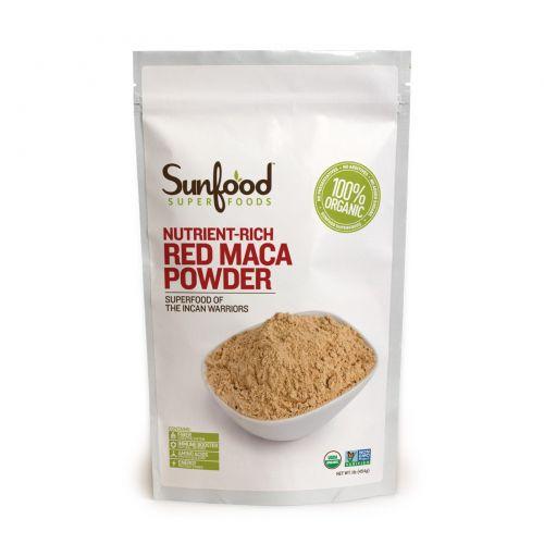 Sunfood, Порошок из красной маки перуанской, обогащенный питательными элементами, 1 фунт (454 г)