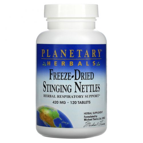 Planetary Herbals, Freeze-Dried Stinging Nettles, 420 mg, 120 Tablets