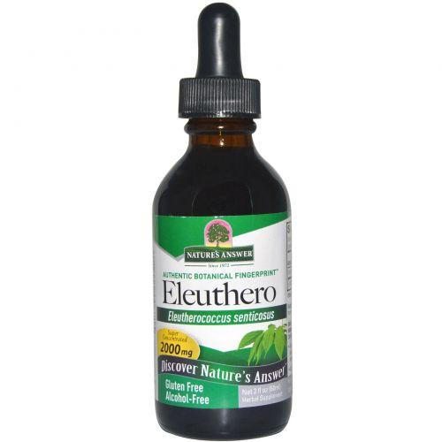 Nature's Answer, Элеутерококк, без спирта, 2000 мг, 2 жидких унций (60 мл)