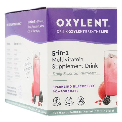 Vitalah, Oxylent, Multivitamin Supplement Drink, Sparkling Blackberry Pomegranate, 30 Packets, 0.22 oz (6.2 g) Each