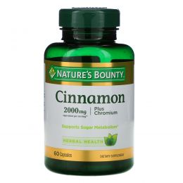 Nature's Bounty, Cinnamon, Plus Chromium, 2000 mg, 60 Capsules