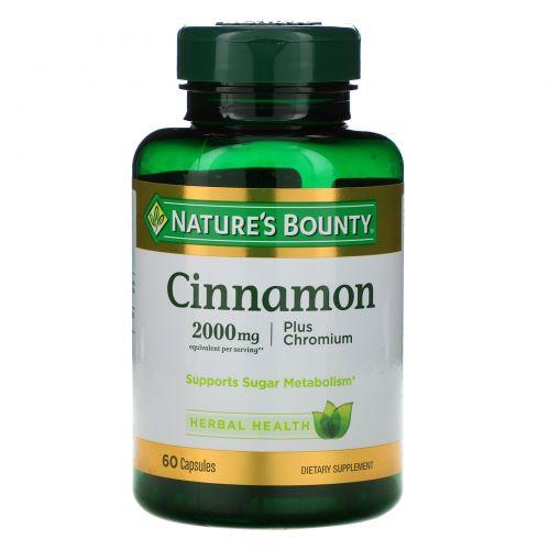 Nature's Bounty, Cinnamon, Plus Chromium, 2000 mg, 60 Capsules
