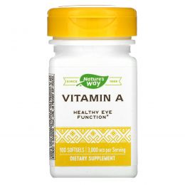 Nature's Way, Витамин A, 10000 МЕ, 100 желатиновых капсул