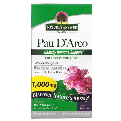 Nature's Answer, По д'Арко, 1000 мг, 90 растительных капсул