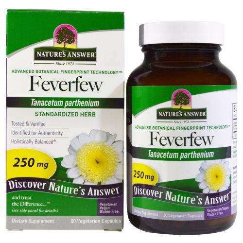 Nature's Answer, Пиретрум, стандартизированное средство, 250 мг, 90 растительных капсул