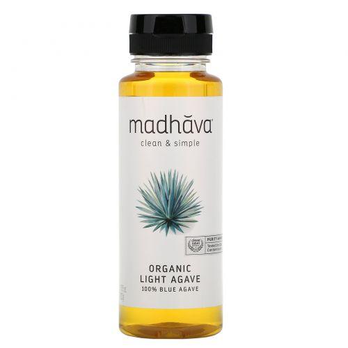 Madhava Natural Sweeteners, Органическая золотая светло-голубая агава, 11,75 унции (333 г)
