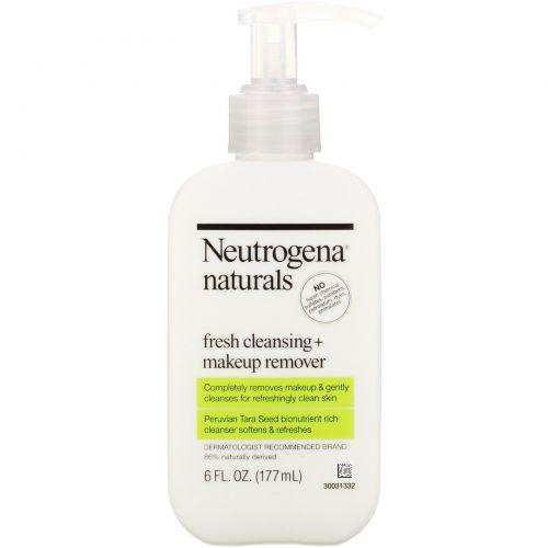 Neutrogena, Освежающее очищающее средство + средство для удаления макияжа, 6 жидких унций (177 мл)