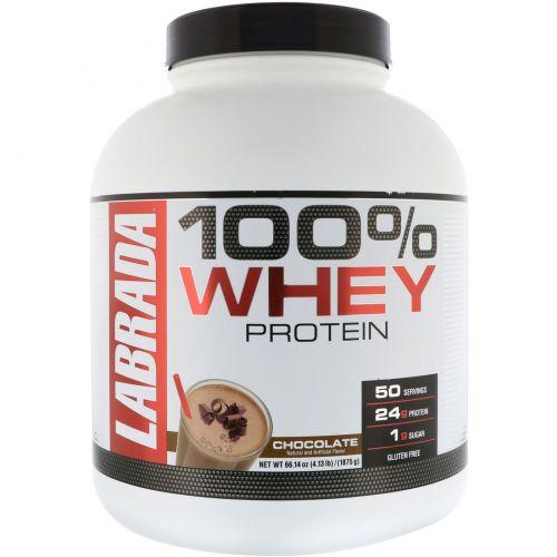 Labrada Nutrition, 100% Whey Protein, Chocolate, 4.13 lbs (1875 g)