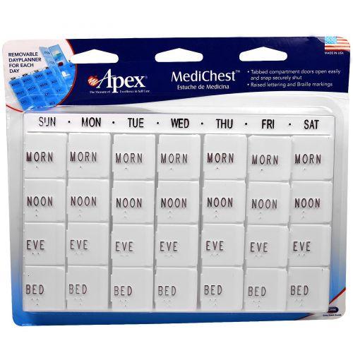 Apex, MediChest, Органайзер для витаминов и лекарств