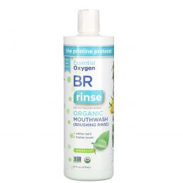 Essential Oxygen, BR Organic Mouthwash Brushing Rinse, Peppermint, 16 fl oz (473 ml)