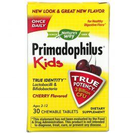 Nature's Way, Примадофилус, для детей от 2 до 12 лет, в жевательном виде со вкусом вишни, 30 таблеток