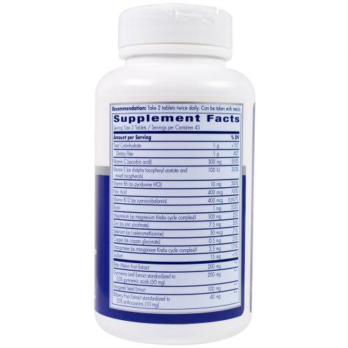 Enzymatic Therapy, Оптимизированные питательные вещества для диабетиков, 90 таблеток