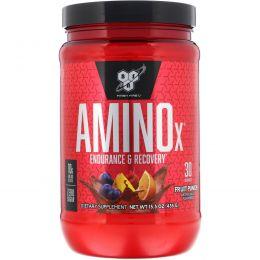 BSN, Amino-X, выносливость и восстановление, фруктовый пунш, 15,3 унций (435 г)