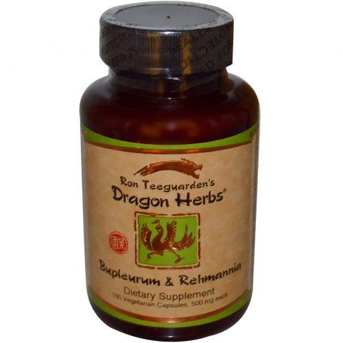 Dragon Herbs, Володушка с реманией, 500 мг, 100 капсул на растительной основе