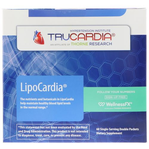 Thorne Research, LipoCardia, 60 сдвоенных пакетов
