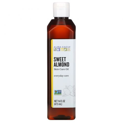 Aura Cacia, Skin Care Oil, Nurturing Sweet Almond, 16 fl oz (473 ml)