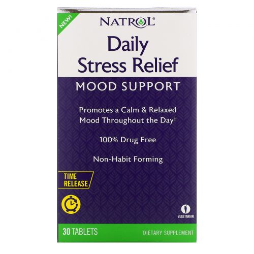 Natrol, Daily Stress Relief, Time Release, 30 Tablets