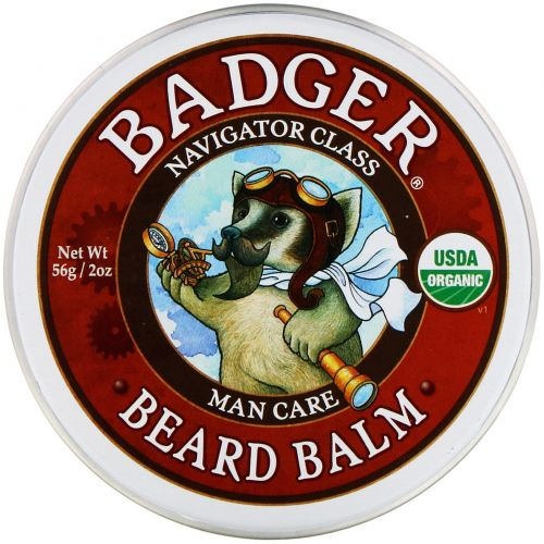 Badger Company, Навигатор Класс Для мужчин, Бальзам для бороды, 2 унции (56 г)