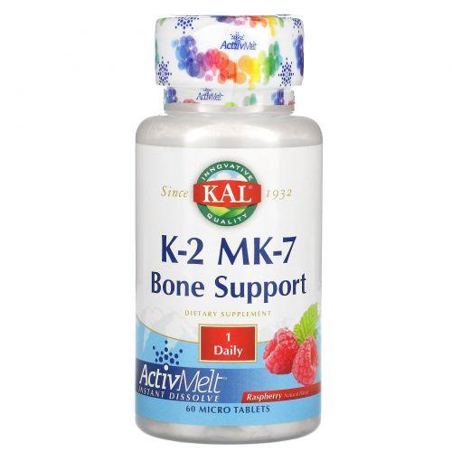 KAL, K-2 MK-7, Bone Support, Raspberry, 60 Micro Tablets