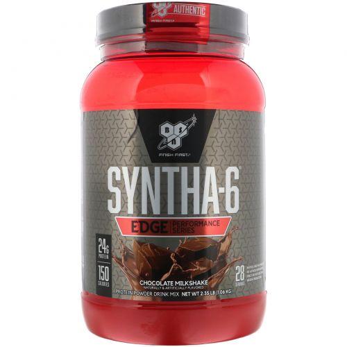 BSN, Syntha-6 Edge, питьевая смесь белкового порошка, вкус шоколадного молочного коктейля, 2,35 фунта (1,06 кг)
