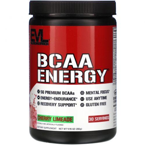 EVLution Nutrition, BCAA Energy, Напиток из Лаймового Сока с Вишней, 9,9 унций (282 г)