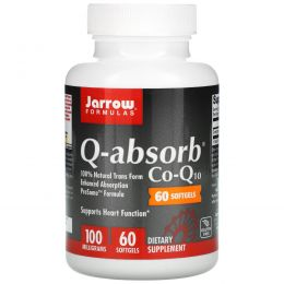Jarrow Formulas, Q-absorb, кофермент Q10, 100 мг, 60 мягких капсул