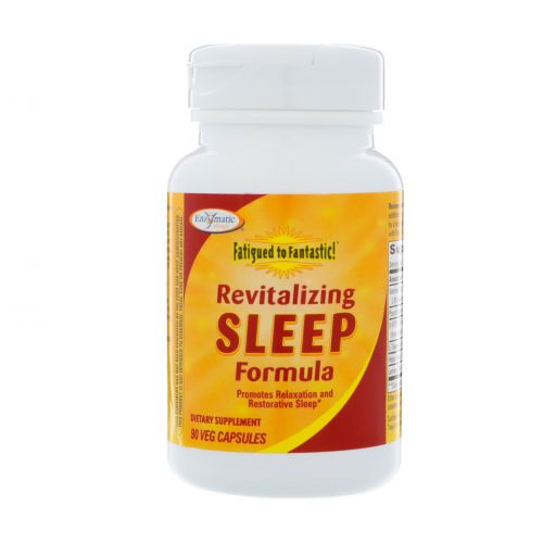 Enzymatic Therapy, Fatigued to Fantastic!, восстанавливающая формула для сна, 90 вегетарианских капсул