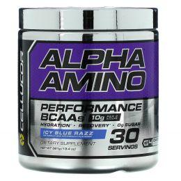 Cellucor, Alpha Amino, аминокислоты с разветвлённой цепью для производительности, льдисто-голубой, 13,4 унц. (381 г)