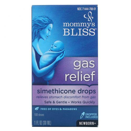 Mommy's Bliss, Облегчение газов, симетиконовые капли , От рождения+, 1 ж. унц.(30 мл)