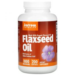 Jarrow Formulas, Organic, Flaxseed Oil, 1,000 mg, 200 Softgels