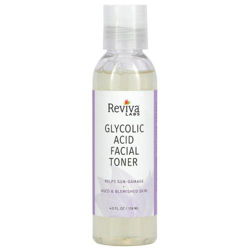 Reviva Labs, Тоник для лица с гликолевой кислотой, 4 жидких унций (118 мл)