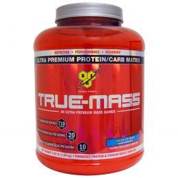 BSN, True-Mass, ультрапремиальная матрица из премиум-белка и углеводов, ванильное мороженое, 5,82 фунта (2,64 кг)
