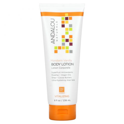 Andalou Naturals, Mandarin Vanilla Vitalizing Body Lotion, 18 fl oz (236 ml)