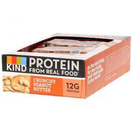 KIND Bars, Протеиновые батончики, хрустящие батончкики с арахисовым маслом, 12 батончиков 1,76 унц. (50 г) каждая