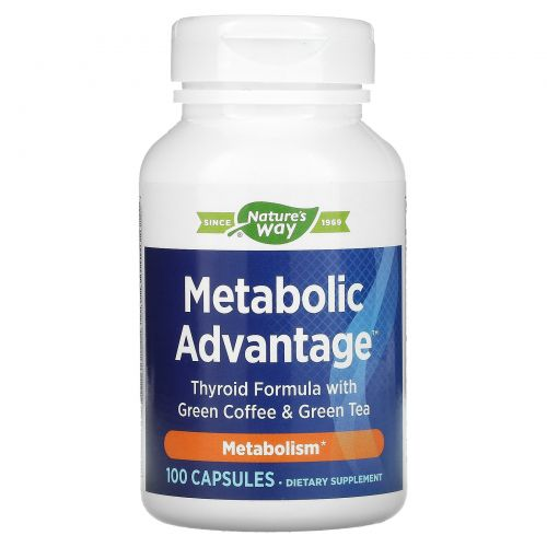 Enzymatic Therapy, Metabolic Advantage, метаболизм, 100 капсул